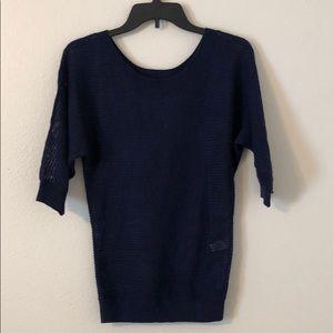 Express Open Knit 3/4 Sleeve Sweater - D1006